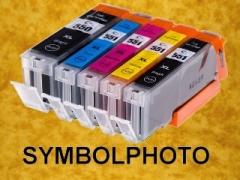 PGI550XLPGBK / CLI551XL - mit Chips * Tinten Komplettset