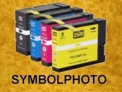 PGI2500XL - mit Chips * Tinten Komplettset